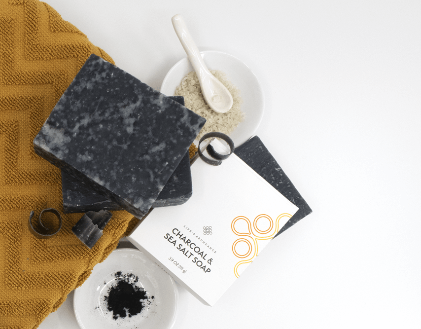 Charcoal & sea salt soap