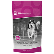 Life's Abundance Grain Free Turkey & Berry Chewies for Dogs