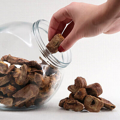 Turkey Hearts Freeze-Dried Dog Treats